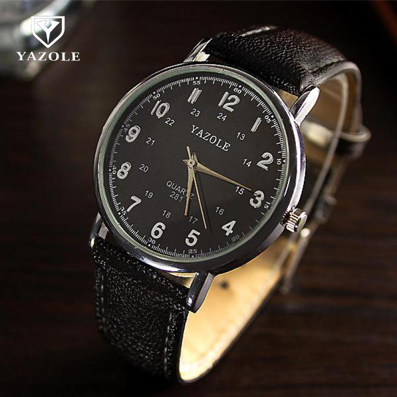 New Arrival YAZOLE Brand Classic Dress Quartz Analog Wrist Watch Wristwatches For Men Women Unisex Lovers Couple 281