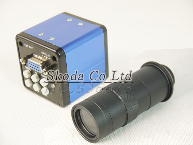 Free shipping 2.0MP VGA outputs digital industrial microscope camera +8~130X Adjustable Magnification zoom C mount Lens паяльная станция zhongdi zd 932