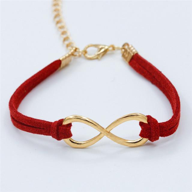 Women's Infinity Leather Bracelet