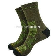 1 Pairs Europe Style COROURA Thicken trekking socks Men s socks ArmyGreen Color