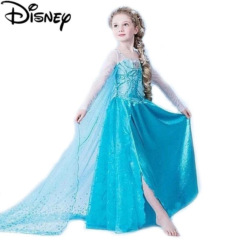 disney dondurulmus elbise elsa anna kiz kostumleri cocuklar icin kar kralice cosplay prenses anna cocuk parti fantasia kulkedisi elbise