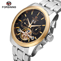 Forsining New Luxury Casual Clock Men Automatic Watch Skeleton Business Watch Mechanical Relogio Male Flying Tourbillon Watches