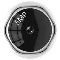 5MP XM 360 degre panoramic Wireless Panoramic Camera Network WiFi Fisheye Security IP Camera Built in MIC