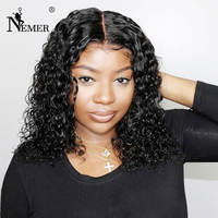 Peruvian Lace Front Human Hair Wigs with Baby Hair Glueless 13X6 Lace Front Wigs Bleached Knots 150 Density Remy Short Bob Wig