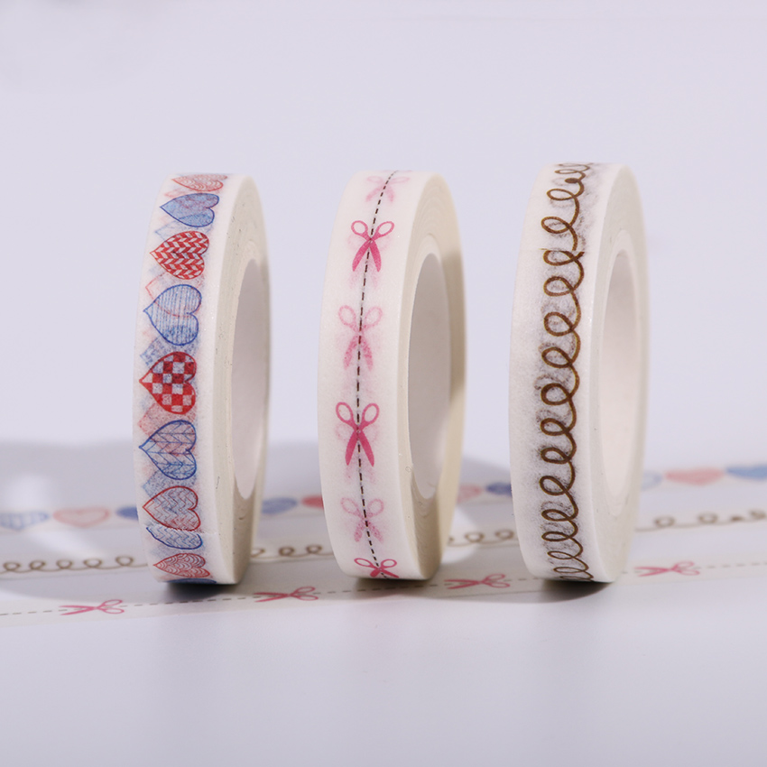 New 8mmx10m Scissors Pattern Japanese Washi Decorative Adhesive Tape DIY Masking Paper Label Sticker Tape