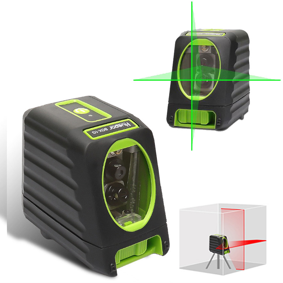 Green Red Light 2 Lines Outdoor Laser Level Instrument Automatic High Precision Waterproof Self Leveling Laser Level Meter все цены