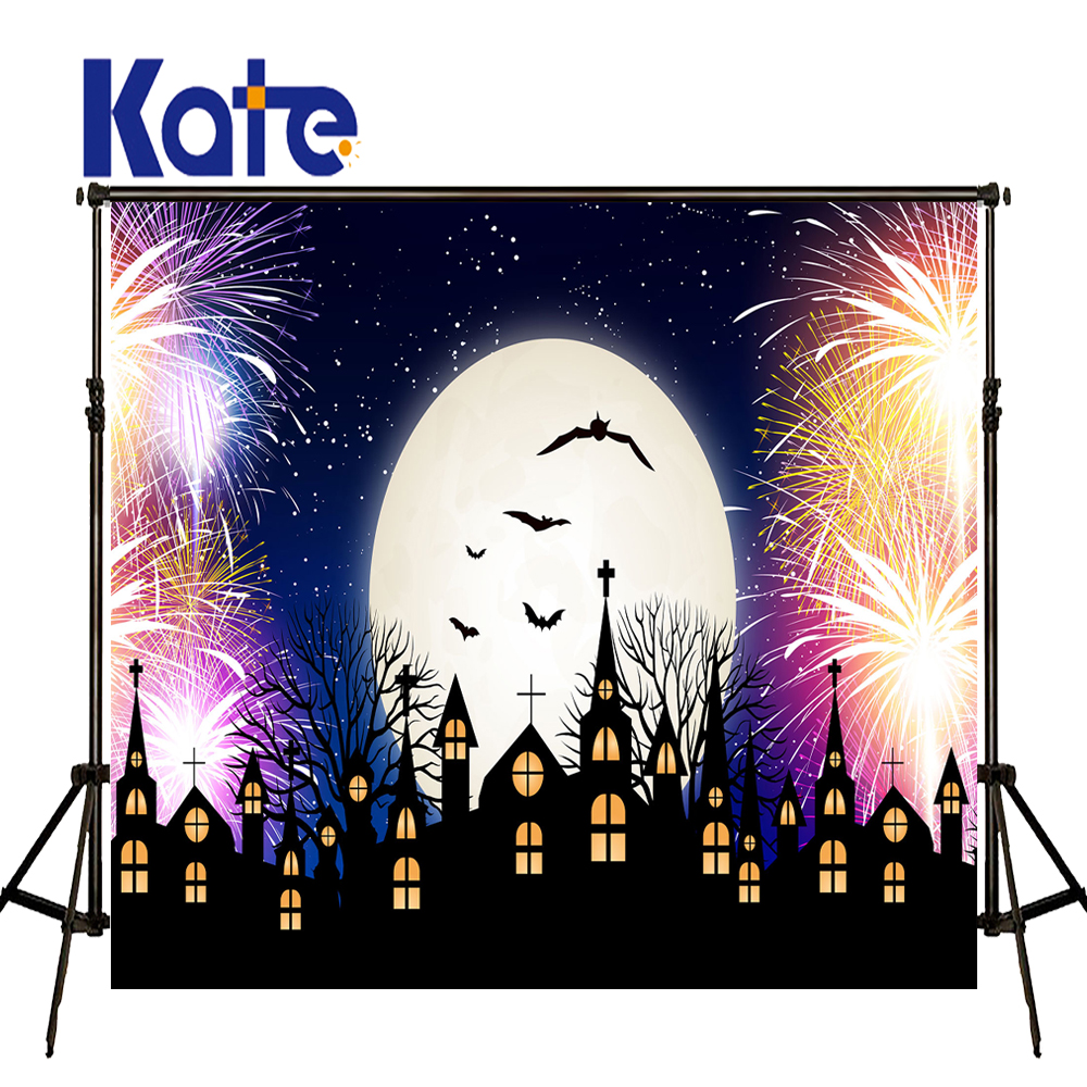 KATE Photo Background Firecracker Fireworks Halloween Backdrop Castle Photography Backdrop Cartoon Children Photo Background сумка kate spade new york wkru2816 kate spade hanna