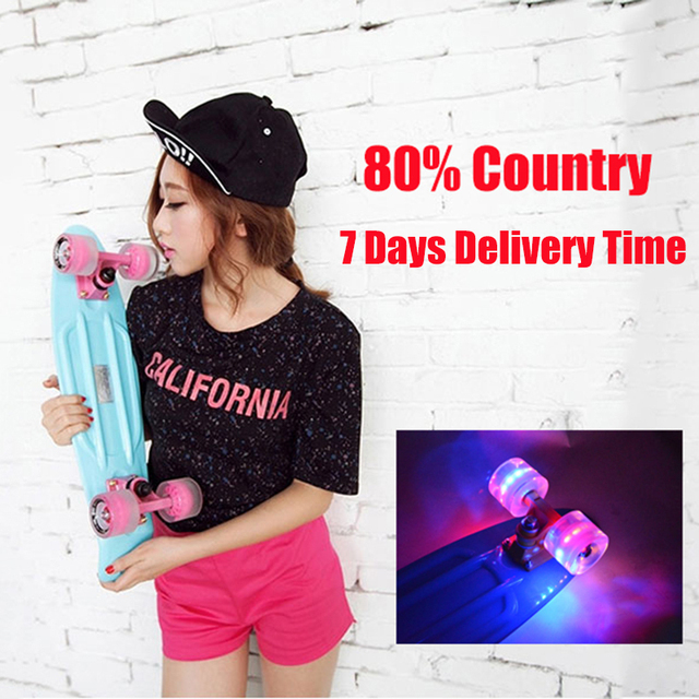 "2018 Pastel Colored Original Peny Board 22"" Pnny mini Cruiser Skateboard board tablas de skate board loaded skateboard complete"