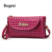 Bogesi 2018 Crocodile PU Leather Women Clutch Bag New Belly Models Luxury Retro Convenience Leisure Small