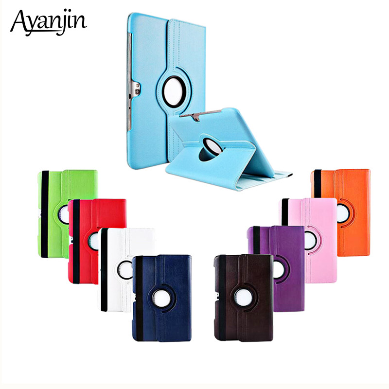 for Samsung <font><b>N8000</b></font> Tablet <font><b>Case</b></font> 360 Degree Rotating Stand for Samsung Galaxy Note <font><b>GT</b></font>-<font><b>N8000</b></font> N8010 10.1 inch Protective Cover+pen image