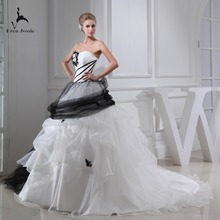 Eren Jossie Standard Custom Size Available Ivory Black Gown