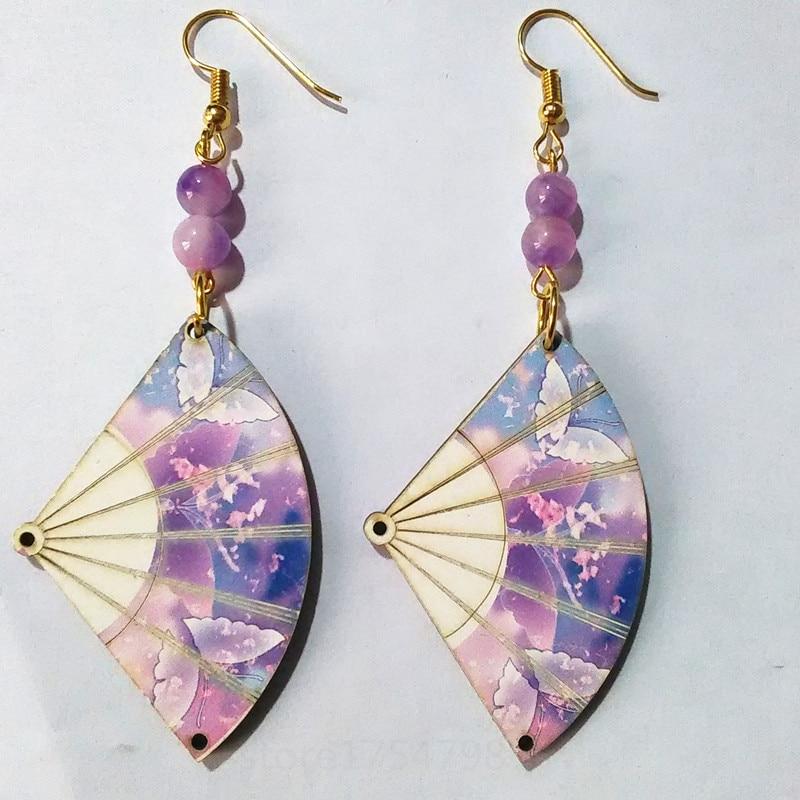 Zephyrr Fashion Jewellery Silver Plated Drop Earrings Blue /& Pink Beaded Tassel Leaf Shape