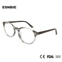 בציר משקפיים מסגרת גברים נשים משקפיים עגולים לשני המינים Eyewear מסגרות אצטט רטרו MenS אופטי מרשם משקפיים אפור