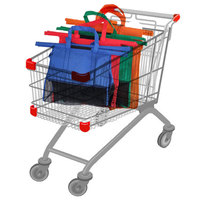 4pcs Foldable Shopping Cart Trolley Bags For Category Non Woven Fabric Bags Large Capacity