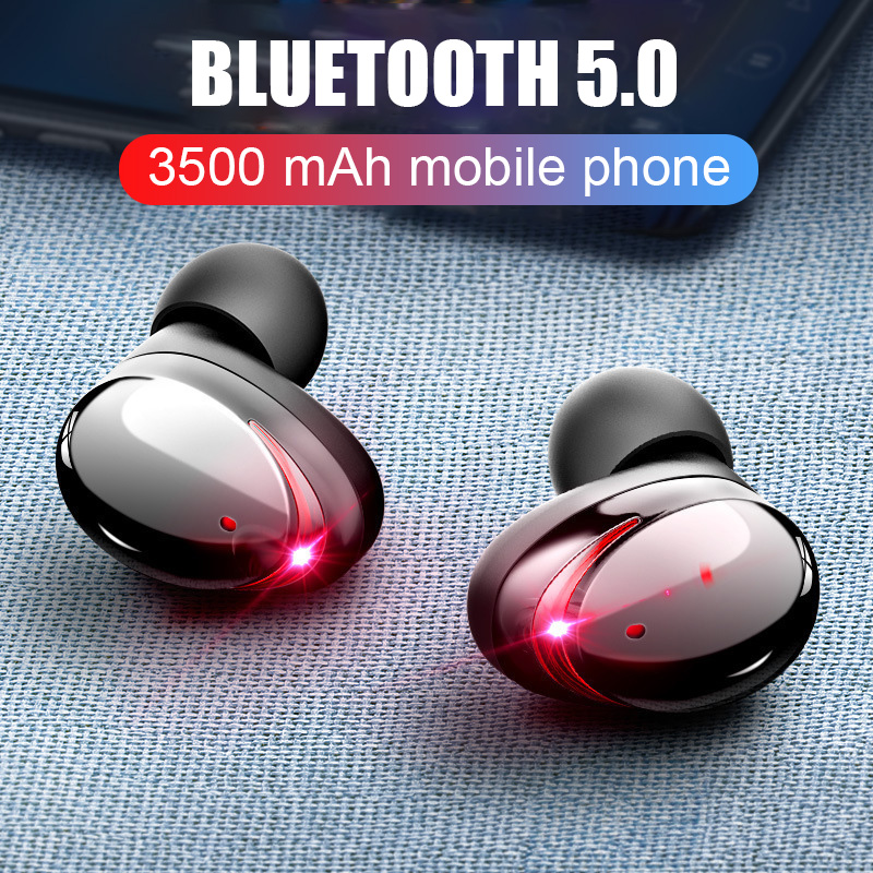 <font><b>T8</b></font> <font><b>TWS</b></font> Bluetooth 5.0 headset 6D bass Touch control Wireless Earphone With 3500mAh Charger Case PK i80 i60 i30 For iPhone Android image