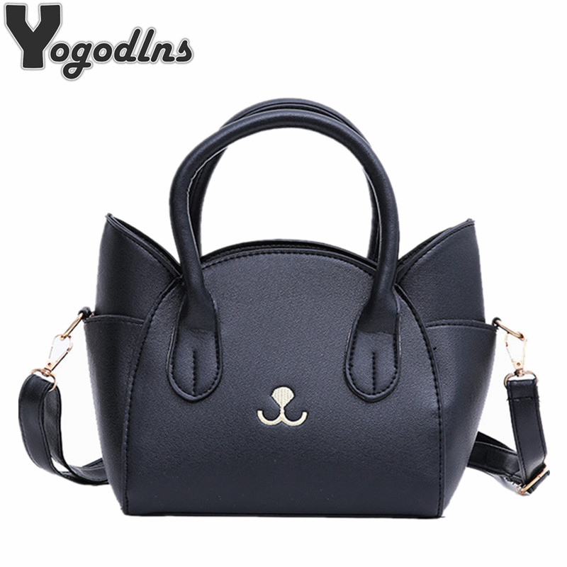 Fashion Style PU Leather Ladies Cute Handbags 2018 New Arrival Large Shoulder Bag Wings Bag Cat Messenger Bag High Quality british retro fashion new handbags high quality pu leather women bag round cute girl shoulder messenger bag tassel female bag
