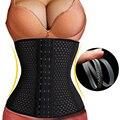 Mulheres cintura cincher body shaper moda 4 aço desossado preto plus size cintura instrutor cintura shaper corsets shapers quentes