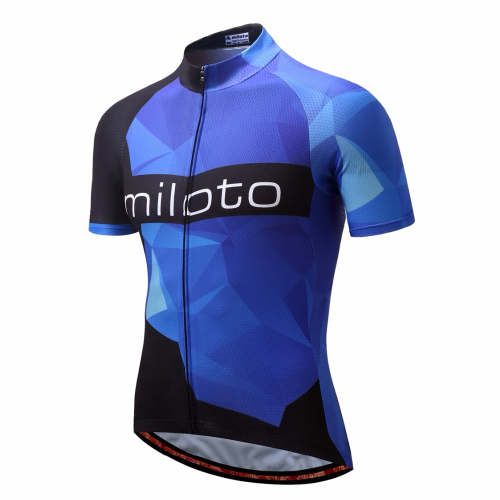 2019 Cycling Jersey Men Mountain Bike Jersey Summer Pro Mtb Bicycle Shirt Team Outdoor Road Tops Ropa Ciclismo Purple Blue Black
