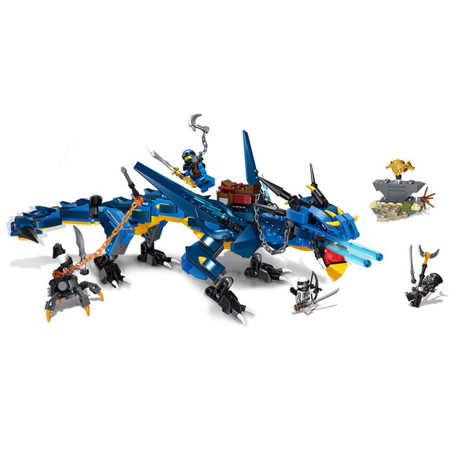 Nova Tempestade Tempestade relâmpago Dragão Kit de Montagem Blocos de Construção de Brinquedos As Crianças Presentes