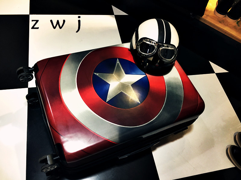 20 24 28 inch Captain America luggage men women Marvel wheeled suitcases Trolley travel luggage for