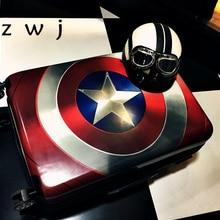 20 24 28 дюймов чемодан Капитан Америка для мужчин и женщин Marvel чемоданы на колесиках/чемодан на колесиках для путешествий для фанатов-героев