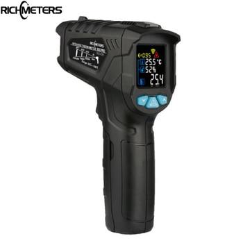 RICHMETERS 800Pro / 800 Termòmetre infraroig digital sense contacte -50 ~ 800C Làser aquari IR Pistola de temperatura Humitat