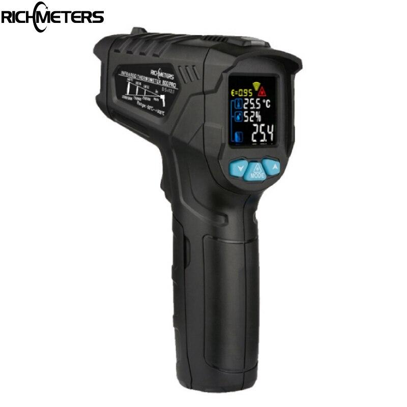 RICHMETERS 800Pro/800 Non-Contact Digital infrared Thermometer Pyrometer -50~800C Aquarium laser IR Temperature Gun humidityRICHMETERS 800Pro/800 Non-Contact Digital infrared Thermometer Pyrometer -50~800C Aquarium laser IR Temperature Gun humidity