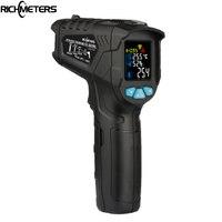 RICHMETERS 800Pro/800 Non Contact Digital infrared Thermometer Pyrometer 50~800C Aquarium laser IR Temperature Gun humidity