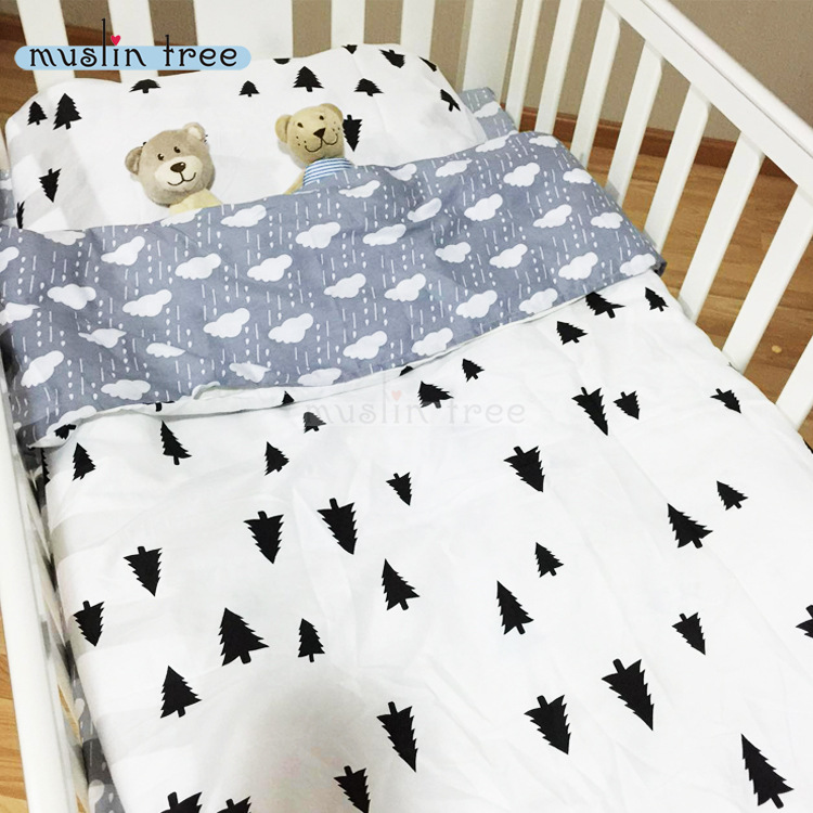 3PCS Set 100% Cotton Baby Crib Bedding Set Baby Bedding Set for Cot Duvet Cover Bed Sheet Pillow Case Without Filler CP24 promotion 6pcs baby bedding set cot crib bedding set baby bed baby cot sets include 4bumpers sheet pillow