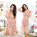 Retail One Set Lady Romantic Full Lace Mesh Nightdress Hollow Out Half Transparent Floral Nighties Sexy Midnight Slips Intimates