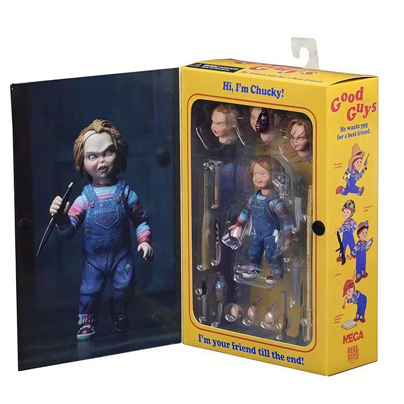 15cm NECA Childs Play Good Guys Chucky PVC Action Figure Toy Collection Model Doll New In Retail Box elsadou neca chucky action figurs child s play doll with retail box 15cm