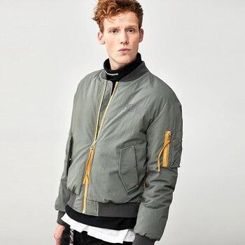 Men's Winter Bomber Jacket Men Casual Streetwear Punk Fashion Wind breaker Male High Quality Wadded Jackets and Coats AU-1896