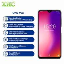 Global Version UMIDIGI ONE MAX 4G RAM 128GB ROM โทรศัพท์มือถือ Helio P23 Android 8.1 ไร้สายแบบ Dual SIM FCC NFC สมาร์ทโฟน