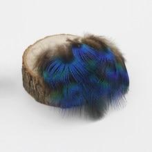 Atacado 20/3 plimes 50 pcs naturais penas de Pavão azul de alta qualidade-6 cm jóias diy decorações acessórios