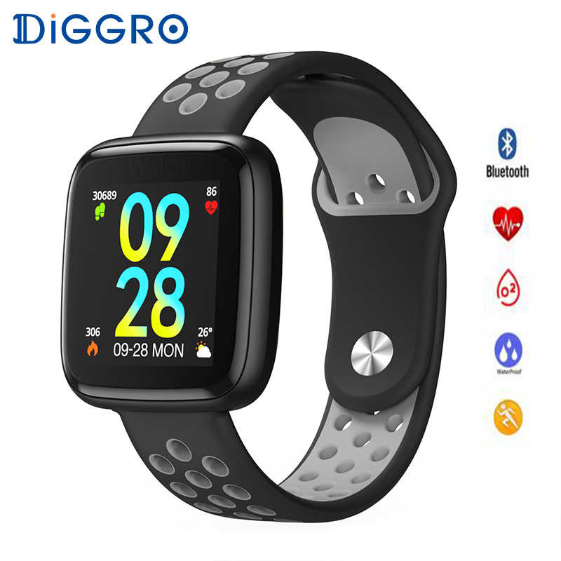 DIGGRO F15 Smart Watch man woman IP68 Waterproof Heart Rate Blood Pressure Blood Oxygen SmartWatch Wristband For Android & IOS