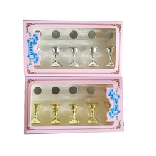 1Set=5pcs Magnetic Nail Display Stand Acrylic False Stand Showing Shelf  Practice Holders Display DIY Nail Art Tool Set TDS07-1 5pcs lot showing shelf false nail tips display stand holder set gold magnetic practice holders manicure nail art salon tools