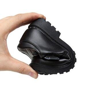 Image 5 - جديد بنين أحذية من الجلد النمط البريطاني مدرسة الأداء أطفال أحذية الحفلات الزفاف أبيض أسود أحذية الأطفال الأخفاف غير رسمية