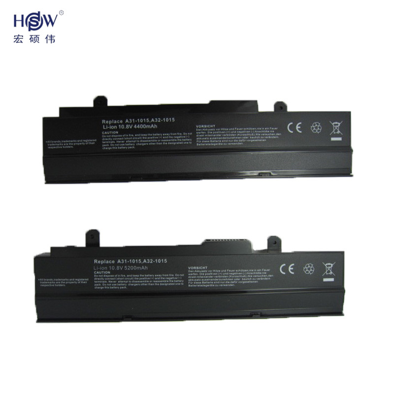 HSW 5200mah replacement New 6 cells Laptop battery For Asus Eee PC 1015 1016 Series Replace A31 1015 A32 1015 bateria akku in Laptop Batteries from Computer Office