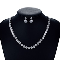 Fashion Bridal Wedding Necklace Earring Set Jewelry Sets for Women Accessories Crystal CZ Cubic Zirconia CN10066