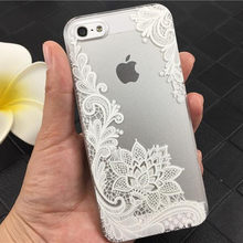 DS-LOVEHUI Mode Sexy Kant Datura Bloem Case Voor iphone 6 6 s 7 8 5 s 5 SE Mooie Mandala Bloemen Telefoon Case Cover Coque Capa(China)