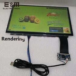 13,3 pulgadas, 10 puntos, Panel táctil capacitivo, Sensor USB, 16:9, Kit de pantalla LCD, Tablet Win7 Win8 Win10, repuesto de vidrio LINUX