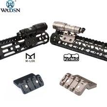 WADSN страйкбол M-LOK Пикатинни м Лок Keymod смещение рельс крепление для Surefir M300 M600 тактический фонарик для оружия Scout Riflescope