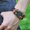 Men bracelets & bangles Pirate Genuine Leather bracelets for women bangles bracelet femme indian jewelry