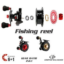 Sougayilang Raft Fishing Reel Gear Ratio 2.6:1 Right Fly Fishing Wheel Former Rafting Ice Fishing Reel Fishing Gear/Tool