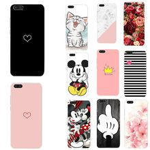 Silicone Cover For Huawei Y5 Y6 prime 2018 Case Heart Cases For Huawei P20 Lite P10 P8 P9 Lite 2017 P Smat Mate 10 Lite Pro Case(China)
