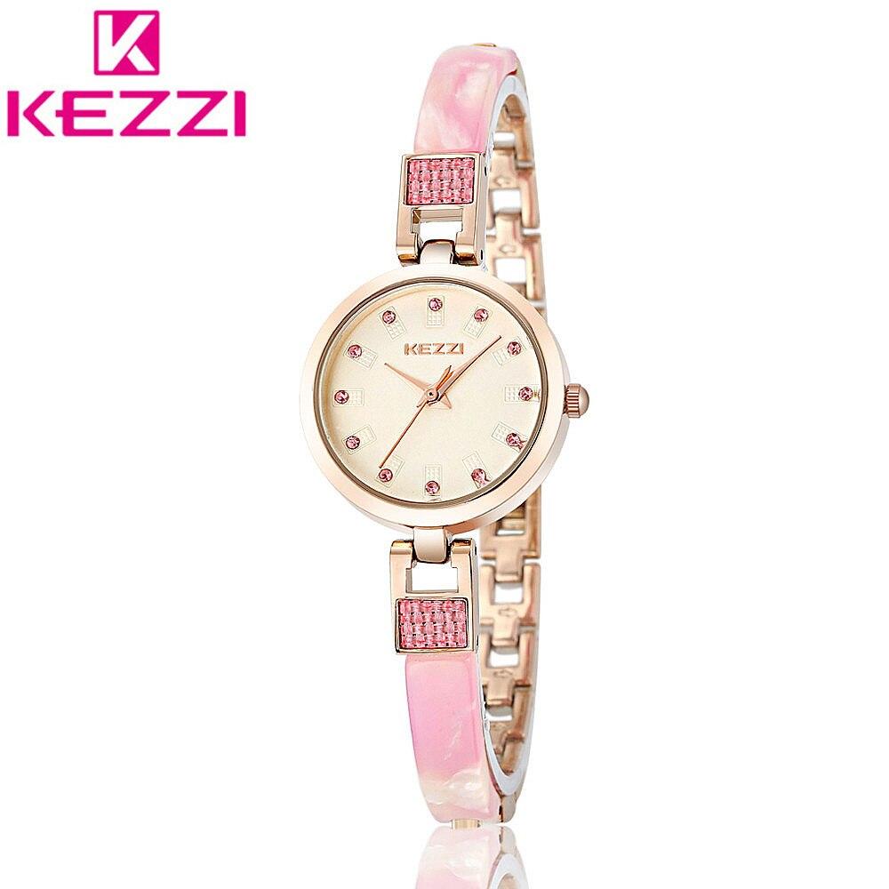 KEZZI KW1168 Luxury Brand Fashion Gold Bracelet Wristwatch Women Clock Ladies Famous Quartz Watch Relogio Feminino