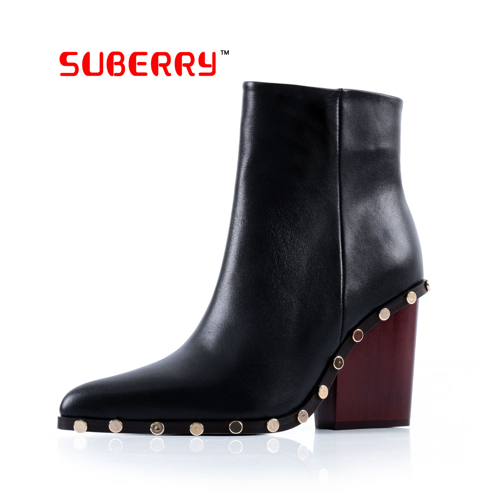 suberry shoes us size 9 rivet boots thick