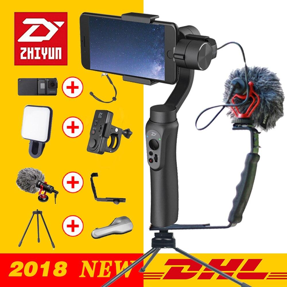 Zhiyun GLATT Q 3-achsen Handheld Gimbal Stabilizer für Smartphone action kamera telefon Tragbare iPhone X Gopro Hero sjcam cam