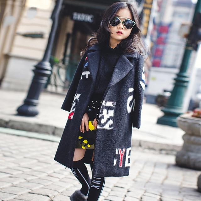 2016 осень/зима девушка разведчик пальто пункт кардиган растет в южной Кореи детская одежда ткань пальто бесплатно доставка