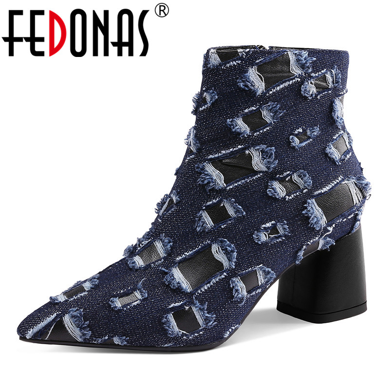 FEDONAS Fashion Women Ankle Boots Sexy Pointed Toe High Heels Autumn Winter Martin Shoes Woman Party Prom Pumps Basic Boots spring autumn woman shoes cow suede shoes high heels sexy party pumps fashion women s pointed toe thin heel ankle boots 34 41